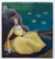 Huile sous verre d'après Kandinsky