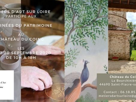 Métiers d'Art sur Loire aux Journée du Patrimoine du Château du Coing
