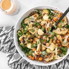 Roasted Cauliflower Salad with Lemon-Tahini Dressing