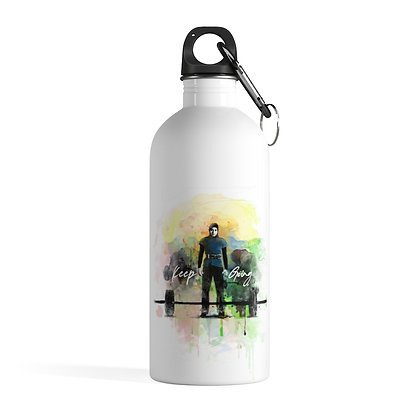 'Keep Going' Stainless Steel Water Bottle