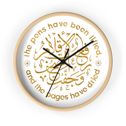 'The Pages Have Dried' Wall Clock
