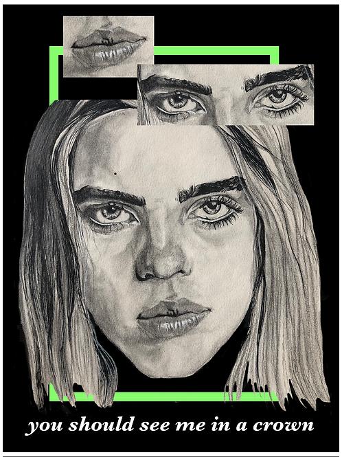 Billie Eilish (A3/11.7 x 16.5 inches)