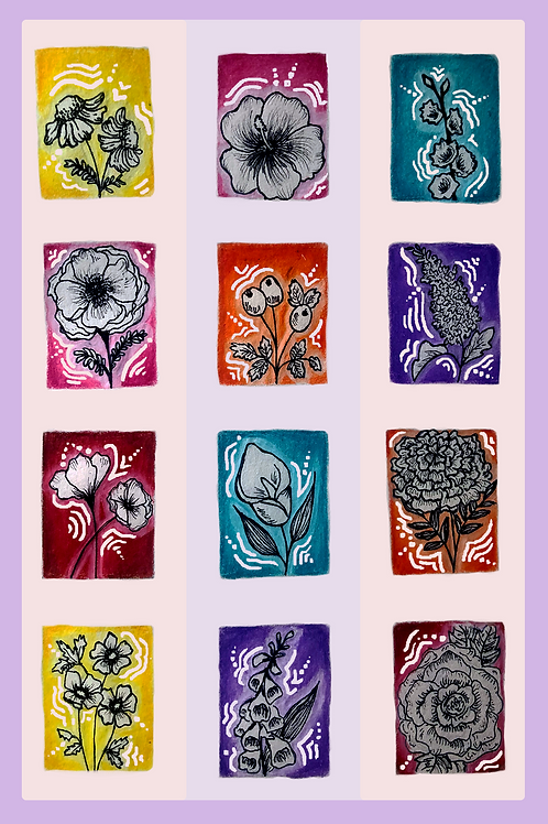 Flowers (A4/8.25x11.75 inches)