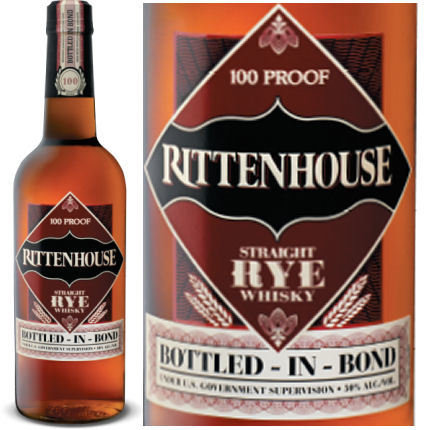 RITTENHOUSE STRAIGHT RYE WHISKEY 750ML