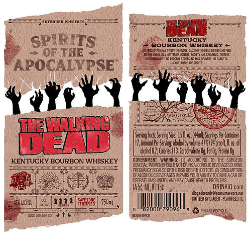 SPIRITS OF THE APOCALYPSE THE WALKING DEAD BOURBON 750ML