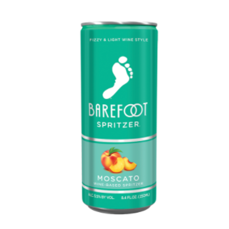 BAREFOOT Spritzer MOSCATO CAN -  250ML 4pack
