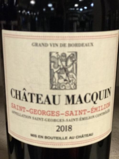 Chateau Macquin Saint-Georges-Saint-Emilion 2018 750ML