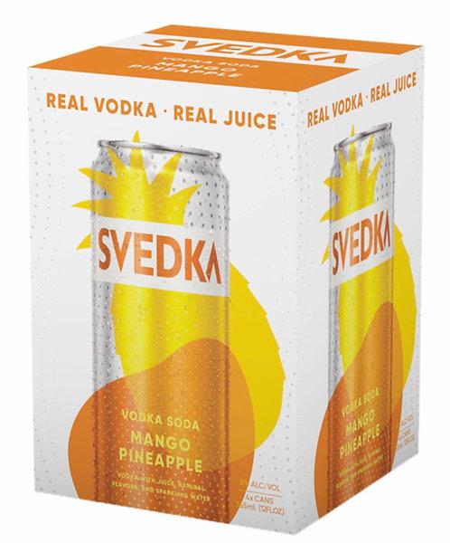 SVEDKA Mango Pineapple Vodka Soda cans 355ml 4pack