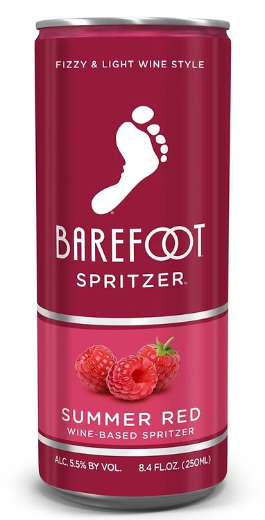 BAREFOOT Spritzer SUMMER RED CAN 250ML 4pack