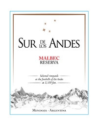 SUR DE LOS ANDES MALBEC RESERVA -  750ML