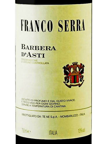 FRANCO SERRA BARBERA D'ASTI -  750ML
