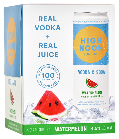 HIGH NOON WATERMELON CAN 335ml 4pack