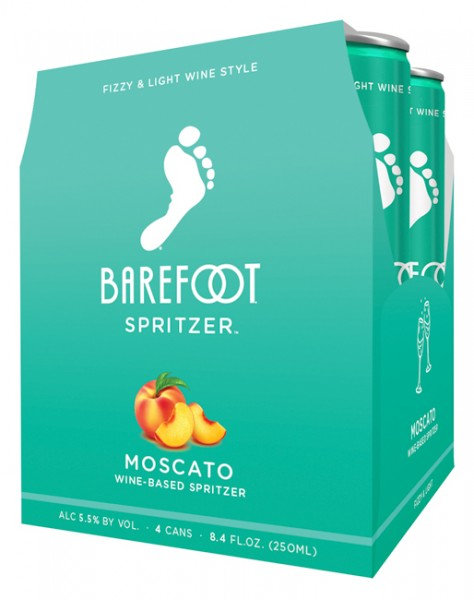BAREFOOT SPRITZER MOSCATO CANS 250ml 4pack