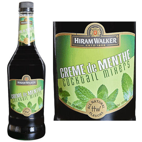 HIRAM WALKER MENTHE GREEN -  1L