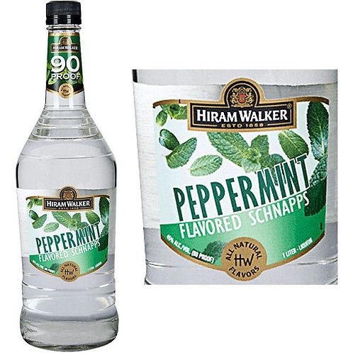 HIRAM WALKER PEPPERMINT SCHNAPPS -  1L