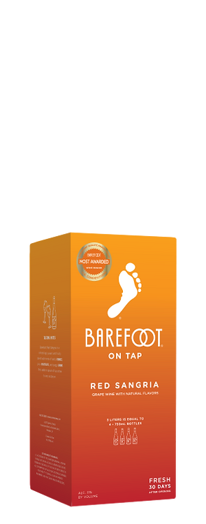 BAREFOOT BOX RED SANGRIA 3LI