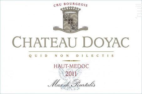 CHATEAU DOYAC BORDEAUX haut-medoc 2011-750ML