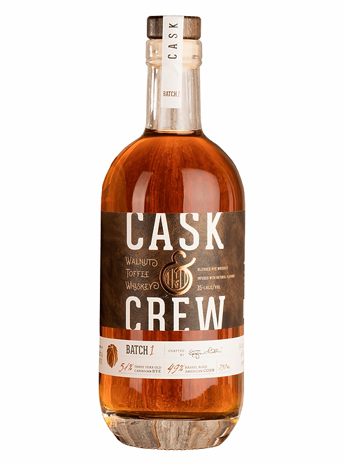 CASK AND CREW WALNUT TOFFEE WHISKEY -  750ML