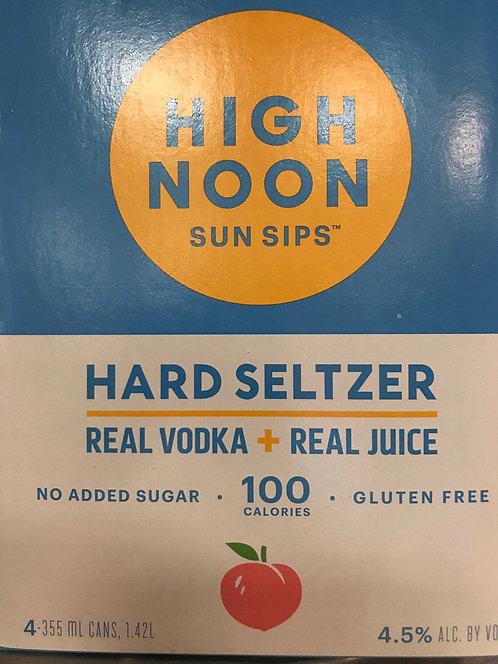 High noon peach cans 335ml 4pack