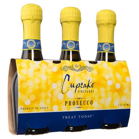 CUPCAKE PROSECCO 187ml 3PACK