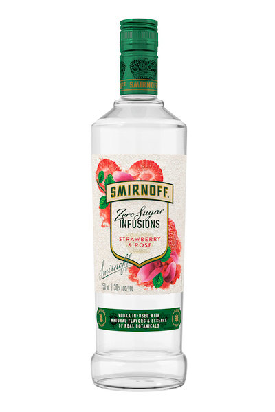SMIRNOFF INFUSIONS STRAWBERRY ROSE 750ML