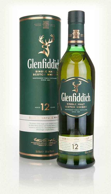 GLENFIDDICH SCOTCH 12 YR -  750ML