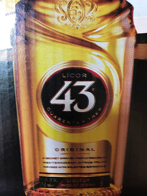 LICOR 43 VANILLA LIQUEUR -  750ML