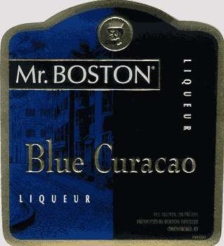 MR BOSTON BLUE CURACAO -  1L