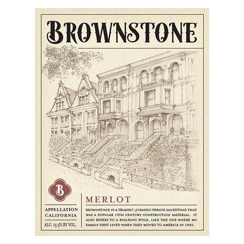 BROWNSTONE MERLOT -  750ML