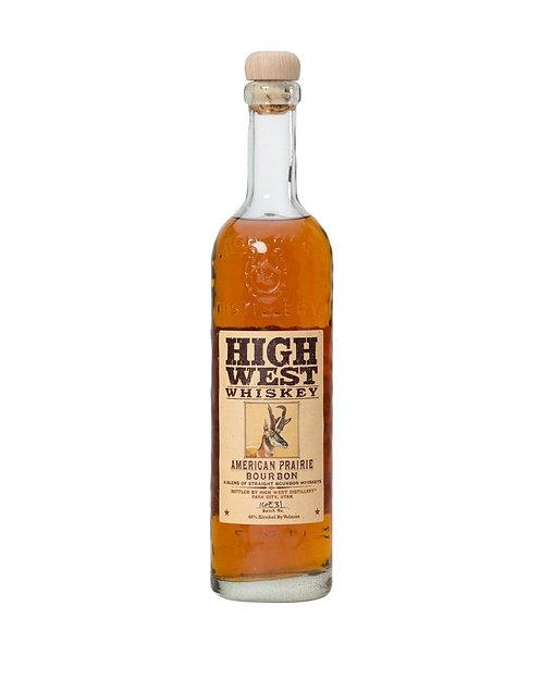 HIGH WEST PRAIRIE BOURBON  -  750ML
