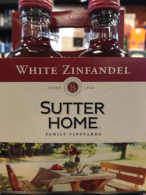 SUTTER HOME WHITE ZIN -  187ML 4pack