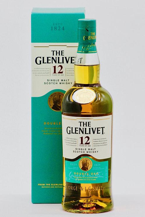 GLENLIVET SCOTCH 12 YR -  750ML