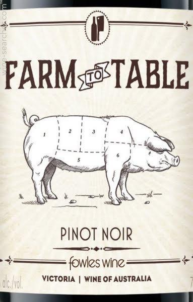 FARM TO TABLE PINOT NOIR -  750ML