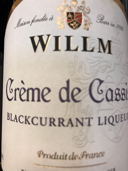 WILLM CREME DE CASSIS -  375ML
