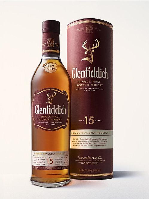 GLENFIDDICH SCOTCH 15 YR -  750ML