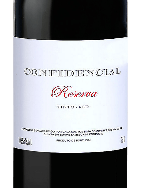 CONFIDENCIAL RESERVA RED -  750ML