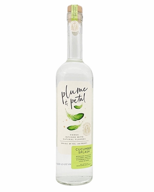 Plume & petal vodka cucumber splash 750ml