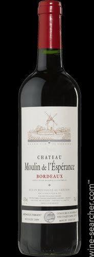 CHATEAU MOULIN DE L'ESPERANCE -  750ML