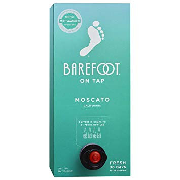 BAREFOOT MOSCATO BOX -  3L
