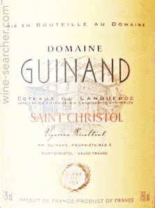 DOMAINE GUINAND SAINT CHRISTOL LESFRENES -  750ML