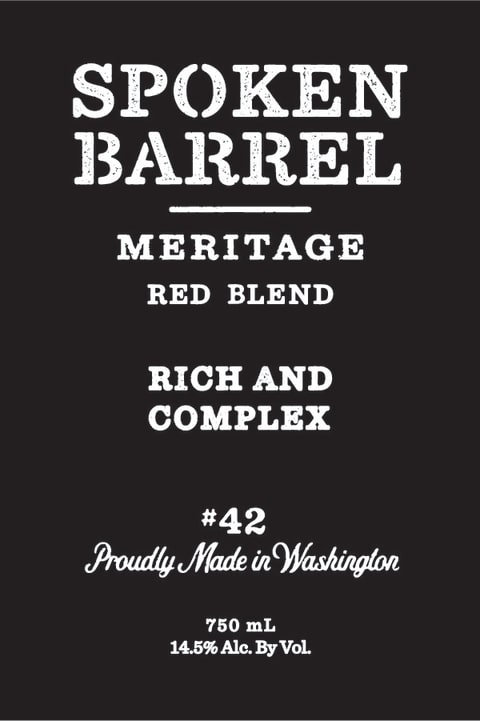 SPOKEN BARREL MERITAGE  -  750ML