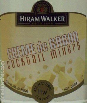 HIRAM WALKER CREME DE CACAO WHITE -  1L