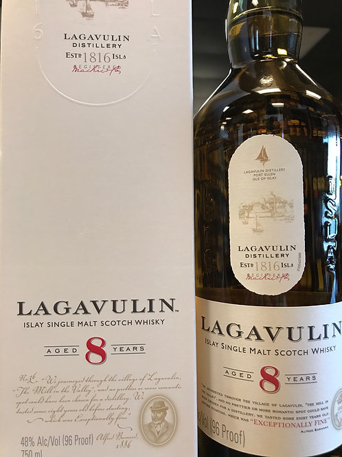 Lagavulin islay single malt scotch 8year 750ml