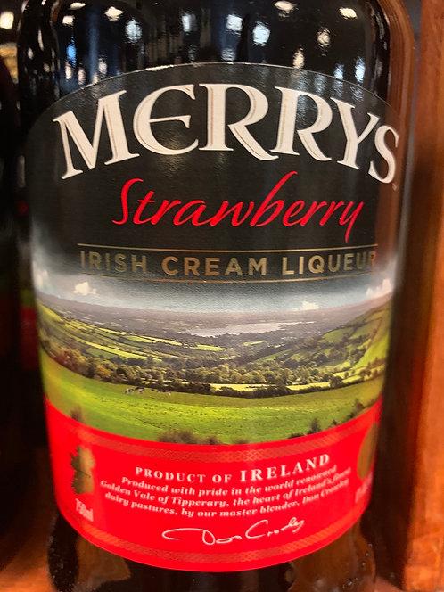 Merry's  strawberry Irish cream 750ml