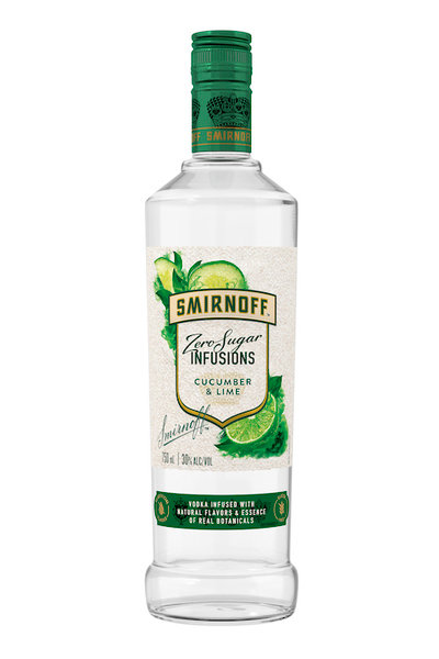 SMIRNOFF INFUSIONS CUCUMBER LIME 750ML