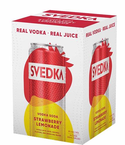 SVEDKA Strawberry Lemonade Vodka Soda cans 355ml 4pack