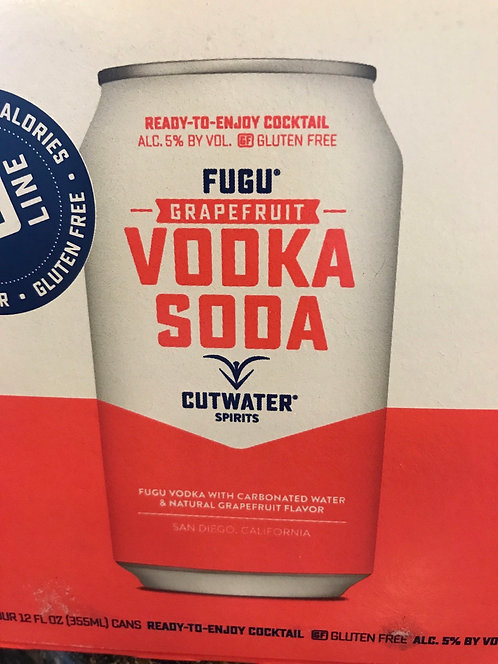 Cutwater grapefruit vodka soda 355ml 4pack