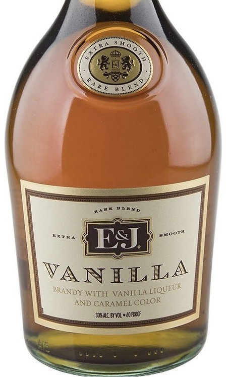 E AND J VANILLA BRANDY -  750ML