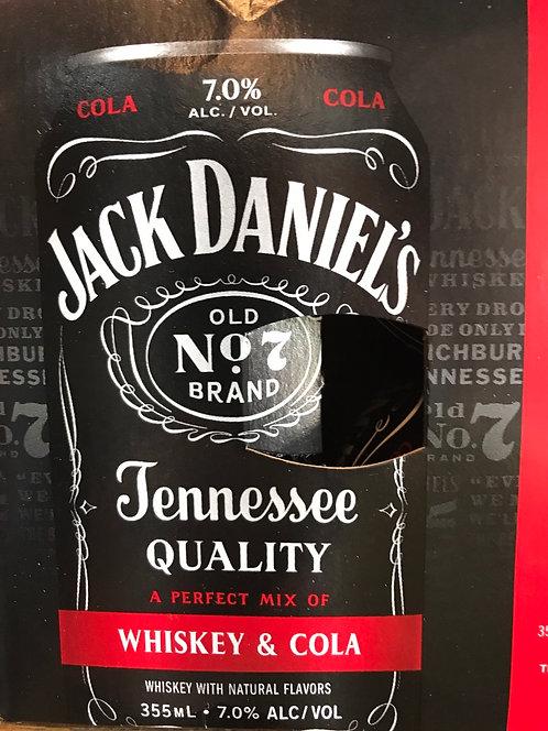 Jack Daniels whiskey & cola 355ml 4pack