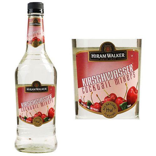 HIRAM WALKER KIRSCHWASSER -  750ML